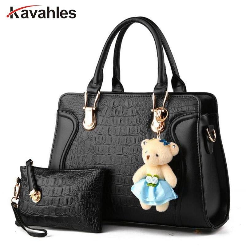 2017 New casual women shoulder bags famous brand fashion designer handbag Solid Composite Bag women totes  messenger bag PP-264