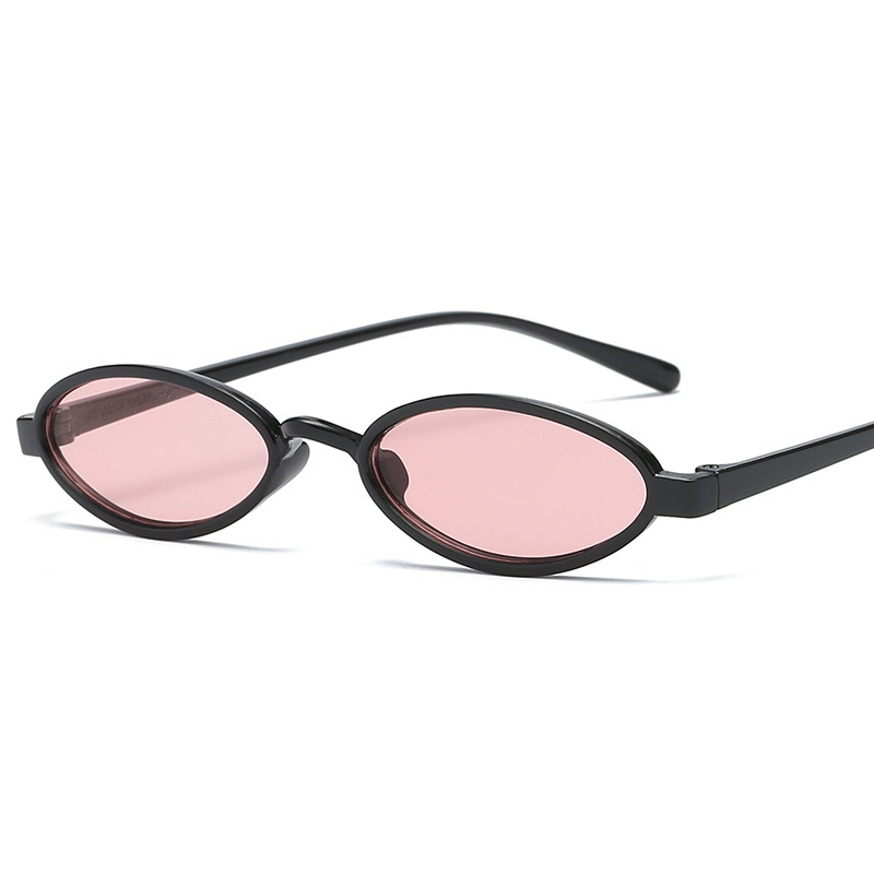 55578601f5 BAMONA 2018 Small Oval Sunglasses Women Retro Black Yellow Pink Lens Round Vintage  Sun Glasses for Men UV400 Fashion Female Male-in Sunglasses from Apparel ...