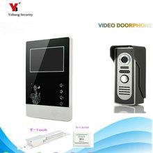 "Yobang Security freeship 4.3 ""Video Door Color Video Monitor Kit Video door Dell phone Video intercom+ Electric lock"