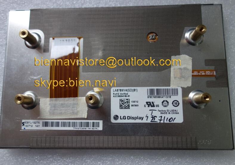 Новые оригинальные автомобильные TFT ЖК мониторы от LA070WV4 (SD) (01) (02) (03) ЖК дисплей для Mercedes Benz SLK250 (2011)