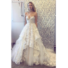 Chengjun Custom Made Sweetheart Ruffles Wedding Dress