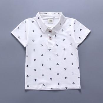 Newborn navy blue shirt and khaki short set for baby boy 3