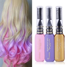 Fashion Beauty Women Hair Color 12 Colors Hair Dye Color Temporary Non-toxic DIY Hair Cream Party Dye Pen 2017