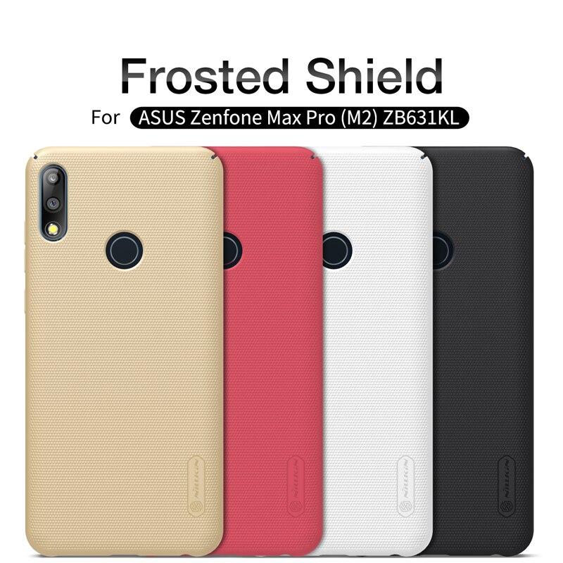 Asus Zenfone Max Pro (M2) ZB631KL Case NILLKIN Super Frosted Shield matte hard back cover for Asus ZB631KL gift phone holder