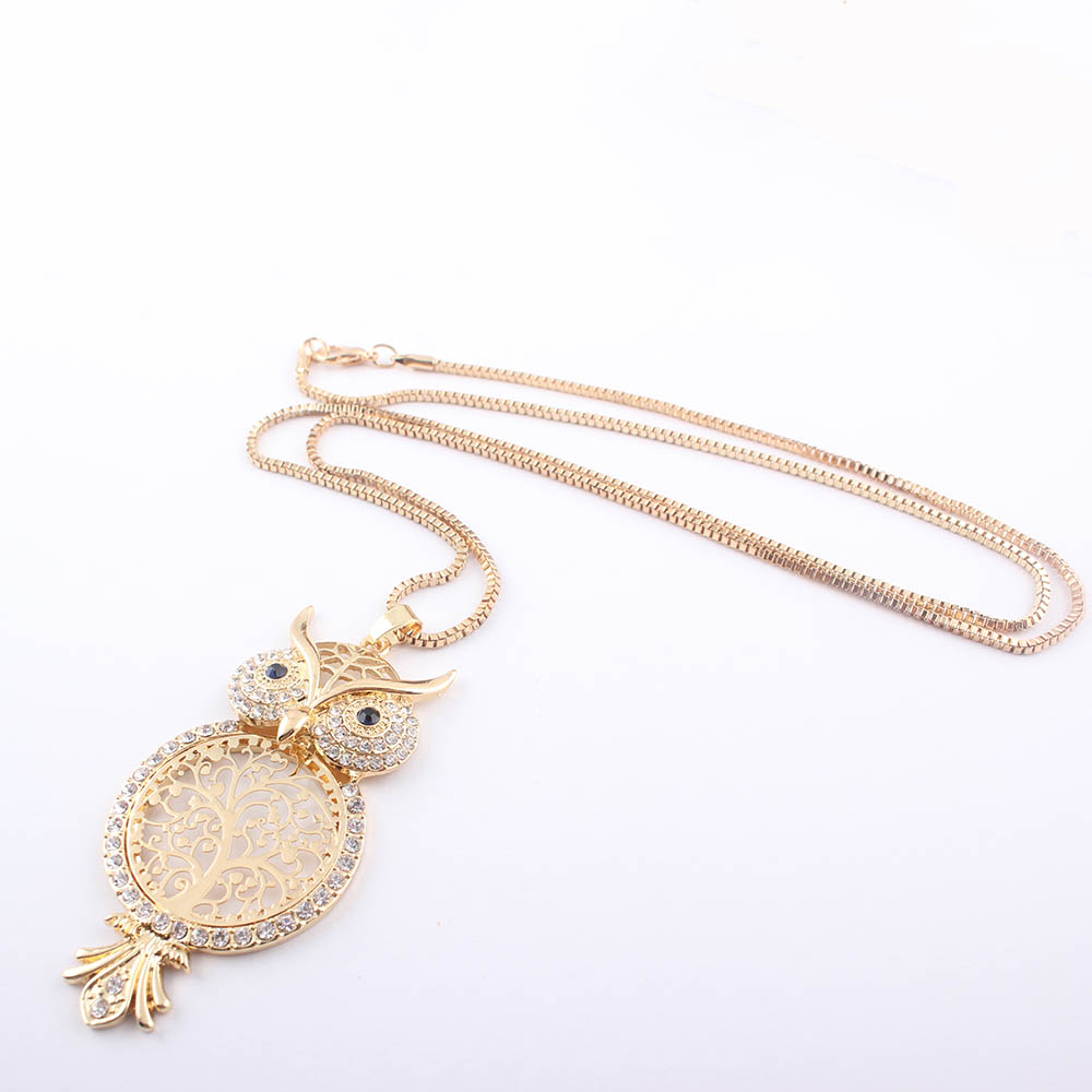 Crystal Cute Owl Necklace