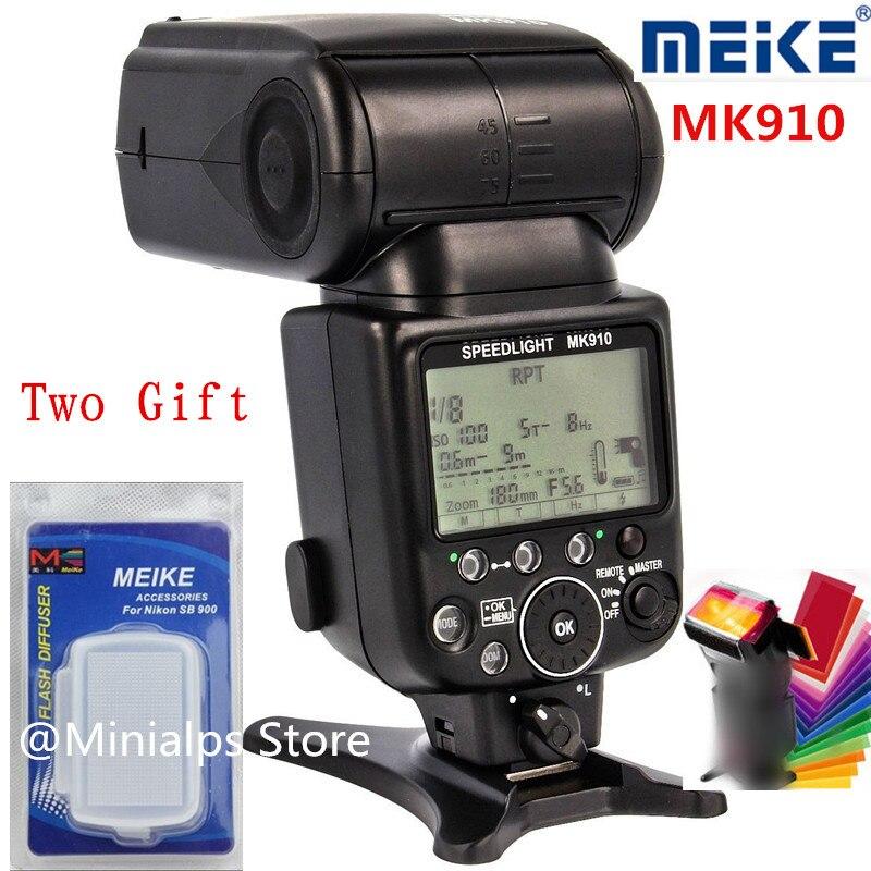 Prix pour Meike MK-910 je-TTL Flash Speedlite 1/8000 s pour Nikon SB-900 D4S D800 D3000 D3200 D5300 D7100 DSLR mk910 Meike MK 910