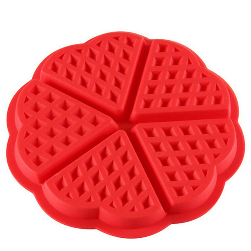 2pcs Silicone Waffle Mold Maker Pan Microwave Baking Cookie Cake Muffin <font><b>Bakeware</b></font> Cooking Tools Kitchen Accessories