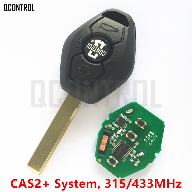 QCONTROL Car Remote Key DIY for BMW CAS X3 X5 Z3 Z4 Z8 3/5/6/7 Series Keyless Entry Transmitter for CAS2 System