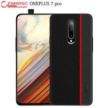 Oneplus 7 Pro Case Carbon Fiber Texture Leather Cover Oneplus 7 Full Protective Phone Case Oneplus 6 6T 5T Shockproof Cover Case(China)