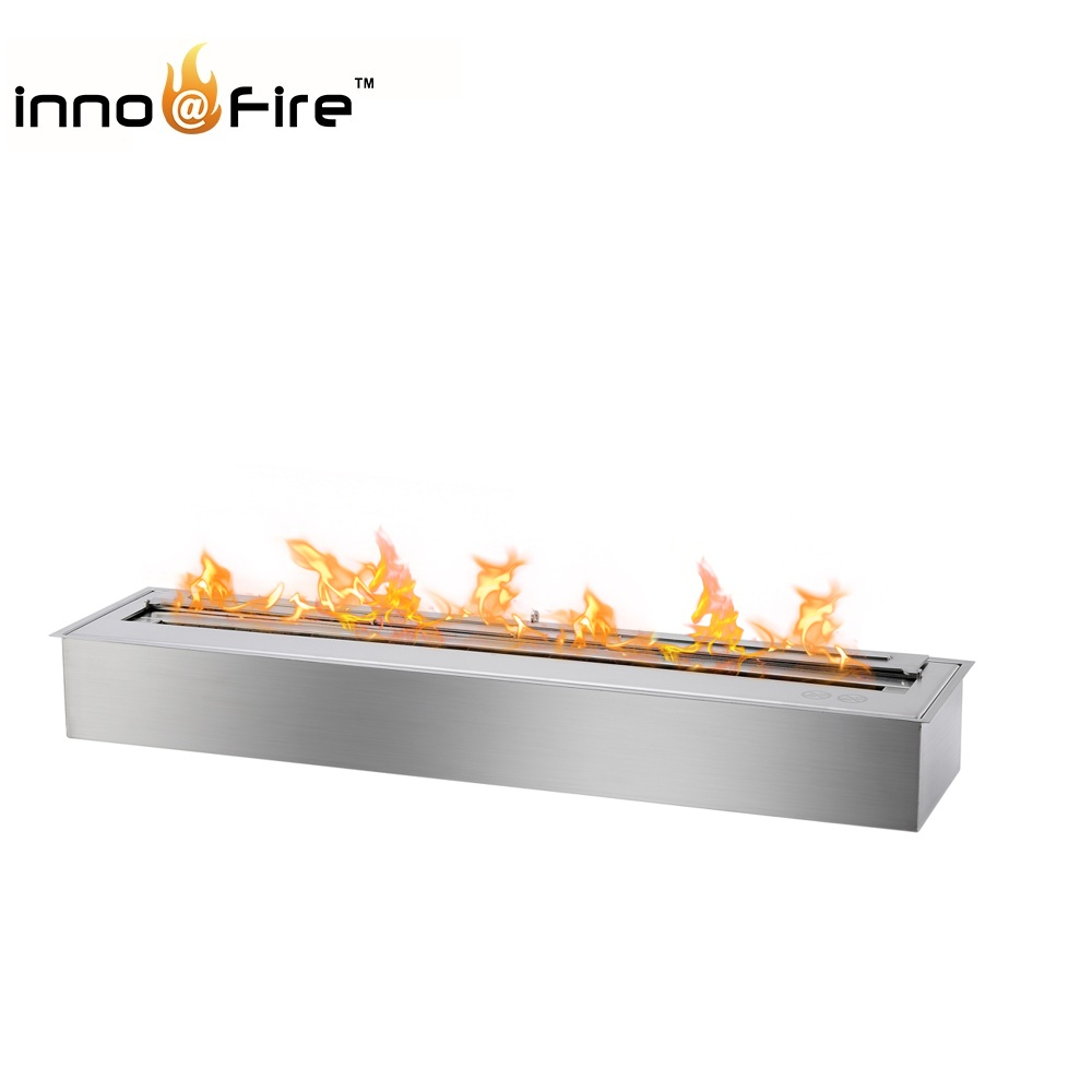 Inno-living 48 Inch 15 Liter Stainless Ethanol Fireplace Stove