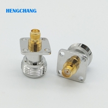 10pcs/lot N-Type N Female  to SMA Female with 4 hole Flange RF Coaxial Adapter Connector Free shipping free shipping 10pcs lot spw20n60c3 20n60c3 n channel to 247 original authentic