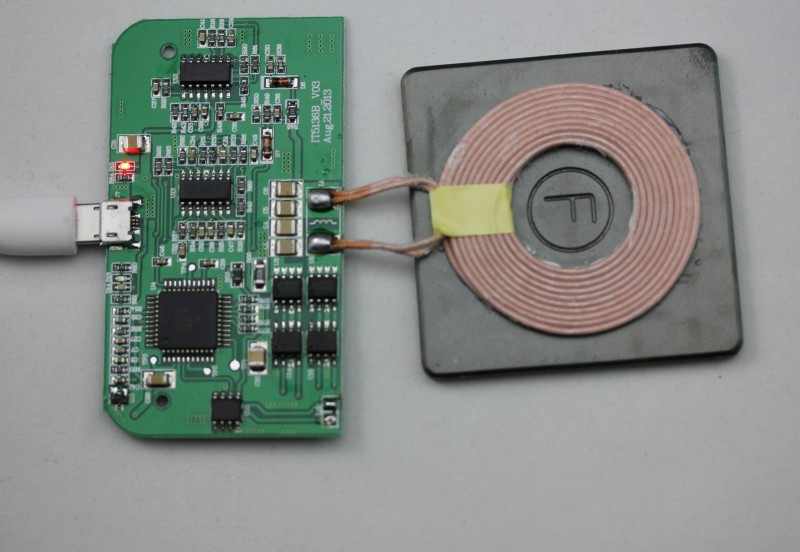 Wireless Charger Pcba Circuit Board With Coil Charging For Cell Phone