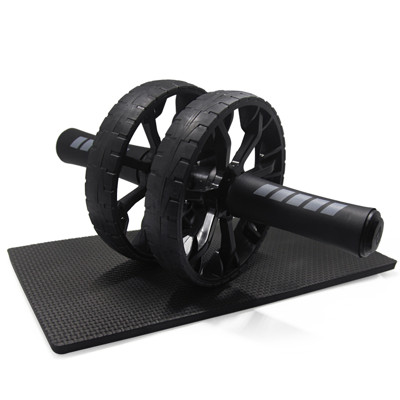 Keep Fit Wheels Slimming No Noise Abdominal Wheel Ab Roller for Gymnastics Exercise Fitness Equipment Muscle Trainer with Mat цена
