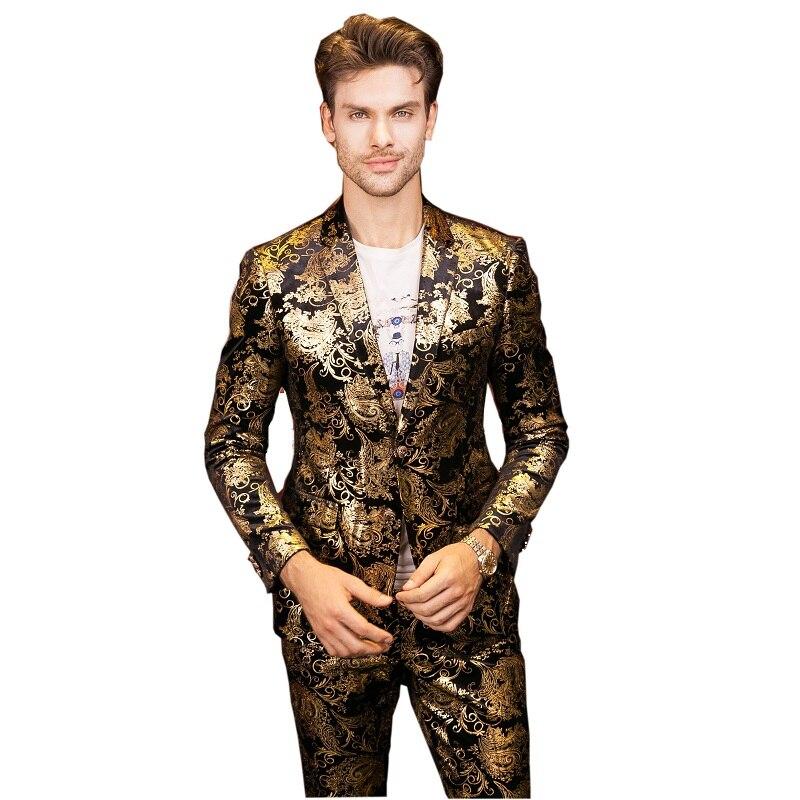 Plyesxale Uomini Vestiti Per La Cerimonia Nuziale 2018 Luxury Brand Oro Nero Tuxedo Jacket Designer Prom Abiti Ultimi Disegni Del Cappotto della Mutanda Q303-in Completi uomo da Abbigliamento da uomo su  Gruppo 2