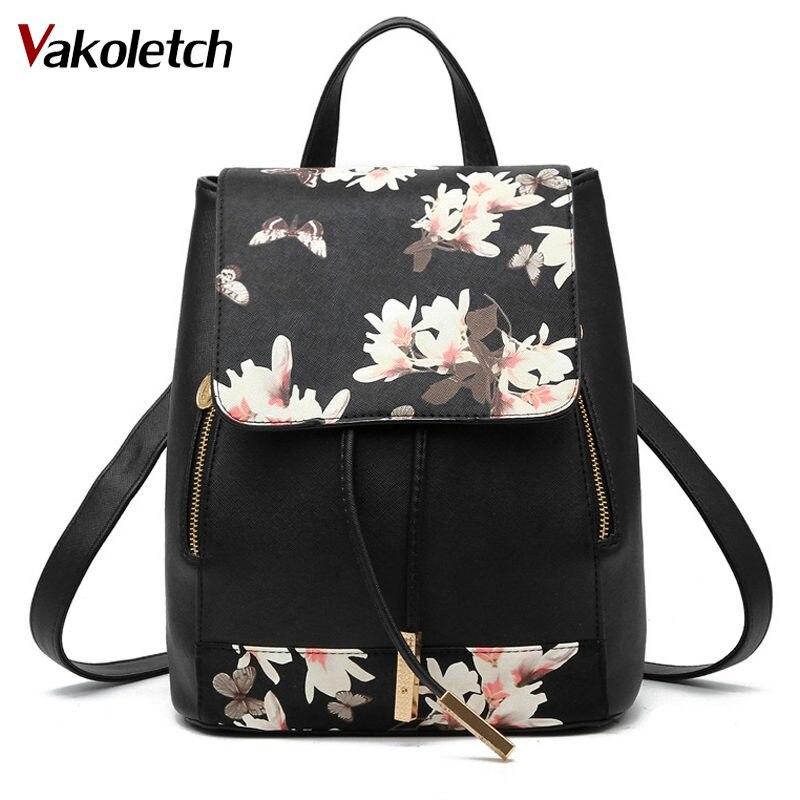 Comprar Floral Bolsas De Escuela Para Adolescentes Mochila
