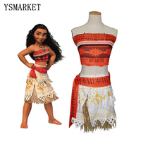 Movie Princess Moana Costume For Kids Moana Princess Dress Cosplay Costume Halloween Costume For Girls Party