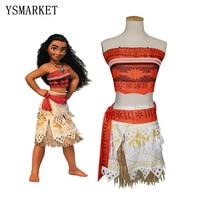 Movie Princess Moana Costume For Kids Moana Princess Dress Cosplay Costume Halloween Costume For Girls Party