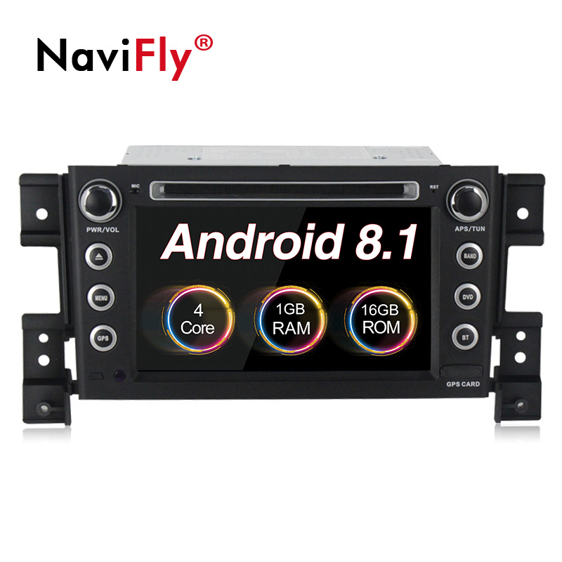 NaviFly Android 8.1 car multimedia player for Suzuki grand vitara 7 inch 2 din with car DVD radio audio gps navigation