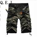 Q.E.J 2017 pantalones cortos Pantalones Cortos de Camuflaje Militar de Carga masculina de Los Hombres de Algodón Pantalones Cortos Sueltos Hombres Del Ejército Pantalones Cortos Bermudas