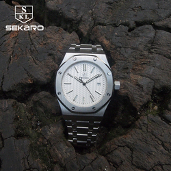 Sekaro Business Dress Sapphire Crystal Watches men Stainless Steel Waterproof Automatic Mechanical Top Brand Luxury Men Watches