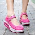 Cheap High Heels Wedge Gym Shoes For Women Platform Tenis Feminino Casual Basket Femme 2016 Female Krasovki Lady Gumshoe YS x134