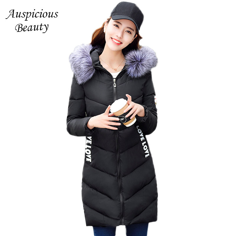 New Winter Jacket Women Cotton-padded Print Outerwear Fashion Slim thicken warm coat Fur collar Hooded Parkas CLothing TSL203 women parkas 2016 fashion ladies big fur hooded slim thicken outerwear winter coats women cotton padded warm overcoat a4507