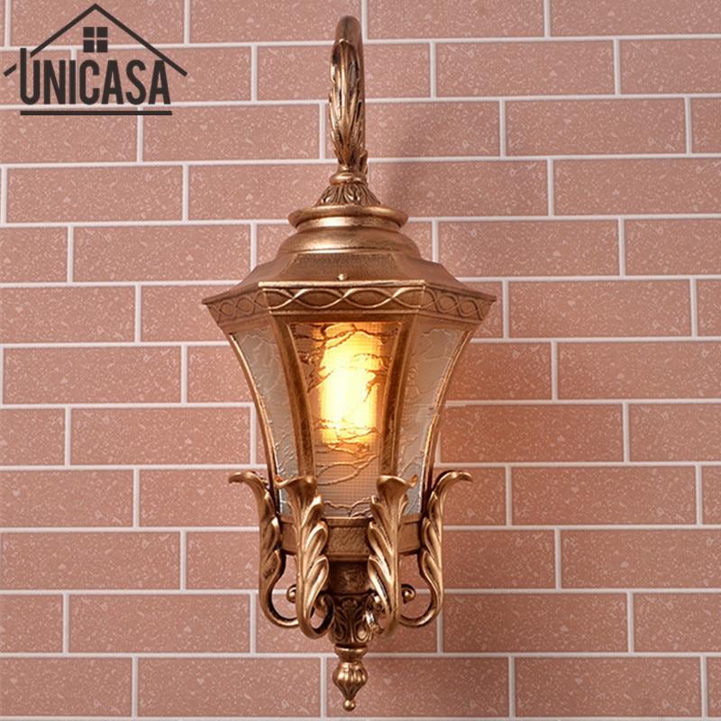 Modern Wall Lights Pathway Antique Sconce Aluminum Vintage Ceiling Fixtures Brown Led Lamp Outdoor Lighting Torch Light Garden