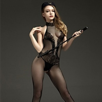Novelty & Special Use Internal Sexual Hot Porn Mesh Lace Babydoll Dress Suit Open Crotch Lingerie Sexy Costumes Underwear Teddy 2
