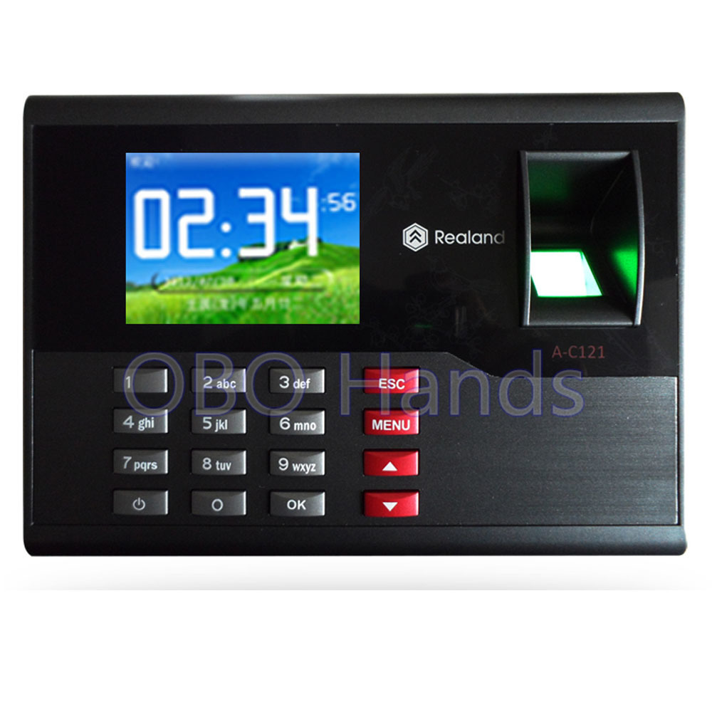 AC121 TCP/IP  biometric fingerprint time attendance system English office employee time clock machine for access control system biometric fingerprint access controller tcp ip fingerprint door access control reader