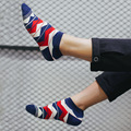 1Pair/lot Fashion Summer Spring Cotton Men Socks For Male Short Slippers Chaussette  Ankle Calcetines Meias B503