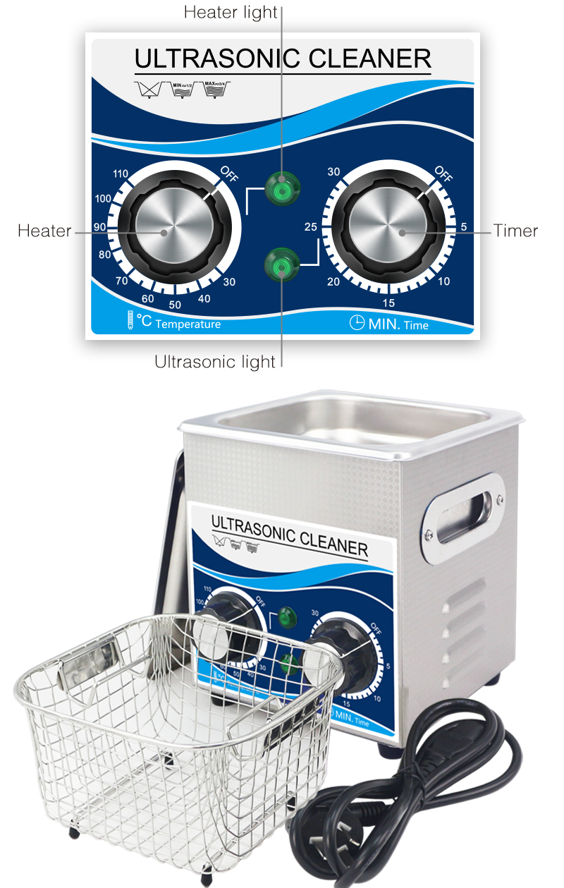 Multi-Function Ultrasonic Cleaner Machine With Large Digital Timer and Temperature Display 9