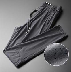 Minglu талии шнурок мужские брюки для девочек Роскошные выдалбливают ткань повседневное Спорт Мужские мотобрюки плюс разме