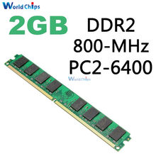 2GB DDR2 800MHZ DIMM PC2-6400 240Pin Memory RAM For AMD CPU Motherboard Desktop Computer 800D2N6/2G(China)