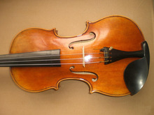 1 PC Quality Hand made Painted Violin with Spruce top maple back and sides ebony accessories 4/4