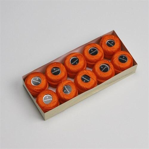 Размер 8, жемчужная хлопковая нить для вышивки крестиком, размер 43(5 грамм) на шарик, Двойной Мерсеризованный длинный штапельный хлопок, 10 шт./цвет - Цвет: 241