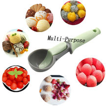 2019 New Ice Cream Tools Scoop Rubber Plastic Digging Ball Fruit Watermelon Spoon Handle