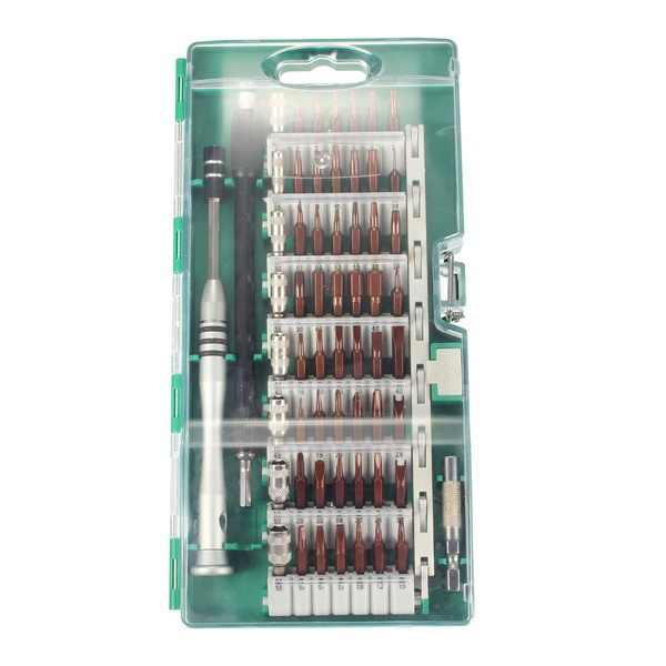 Silver Screwdriver Set 60 In 1 Multifunctional Precision MagneticScrewdriver Set Repair Tool Kits With 56 Bits