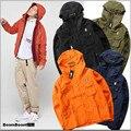 2017 Kanye west Ripndip Men's Hooded Jacket Apparel Sun Protection Hip Hop Wind Bomber Jacket Men women Suprem Dust coat Jacket