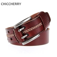 Retail New Cinto De Couro Fashion Genuine Cowhide Real Leather Brown Black Casual Belts Is Men