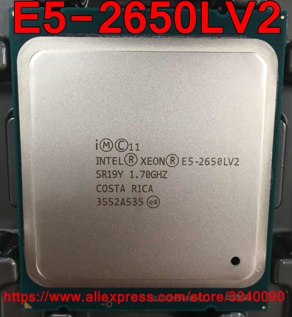 Intel Xeon E5 2650LV2 CPU SR19Y 1 70GHz 10 Core 25M LGA2011 E5 2650LV2 E5 2650L