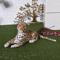 cute simulation leopard toy plush lifelike leopard doll gift about 50cm