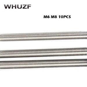 10Pcs M6/8mm x 25mm-100mm 304