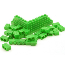 Dongzhur Educational Toy A bag of 50 small granulated brick wall bricks ABS Plastic nine color kids toys