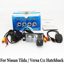Для Nissan Tiida/Versa Хэтчбек C11/RCA AUX Проводной Или Беспроводной/CCD Ночного Видения/HD Широкоугольный Объектив Автомобильная Камера Заднего вида