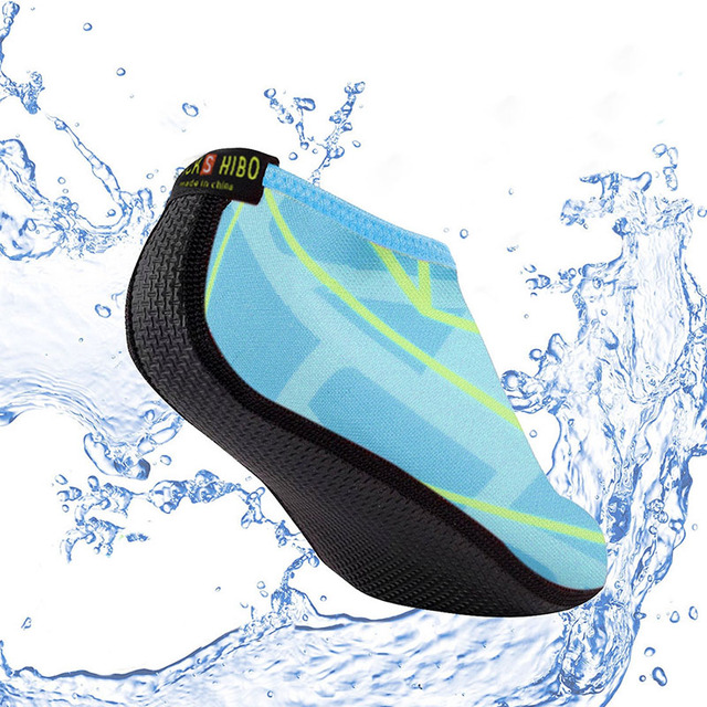 JACKSHIBO Summer Women Water Shoes Aqua Slippers for Beach Slip On Waterpark Slides Slippers Chaussure Femme Striped Colorful 1