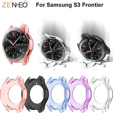 For Samsung S3 frontier TPU Protector Case cover watch Watch Protective Shell Covers 360 Degree frame