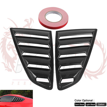 Sand Sprayed Or Specular or Carbon Fiber Side Window Quarter Scoop Louver Cover For Ford Mustang 2015-17 GT HS004 serok ikan