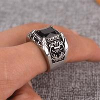 Vintage square black onyx red cz stone ring men in titanium stainless steel royal fluer de.jpg 200x200