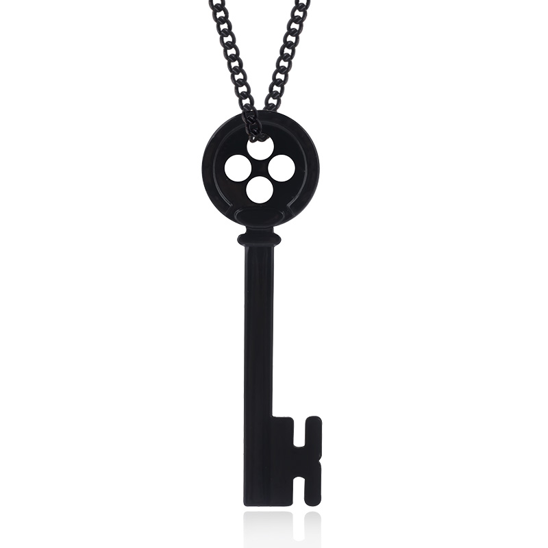 Coraline Key Skeleton Pendant Necklace Black Button Eyes Choker Necklace Neil Gaiman Cosplay Jewelry For Women Men Gift Buy At The Price Of 1 28 In Aliexpress Com Imall Com