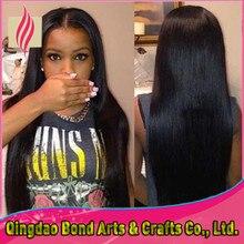 Black women long straight full lace human hair wigs 7A grade brazilian virgin human hair wigs 130%density middel part